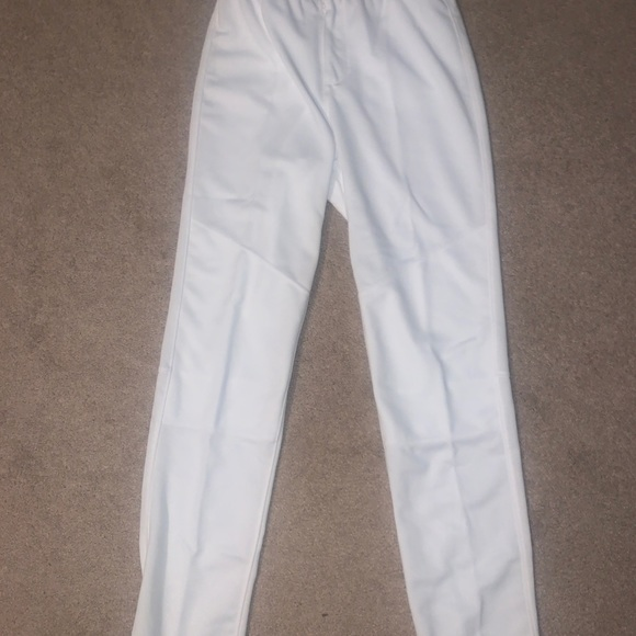 White adidas baseball pants NWT size small
